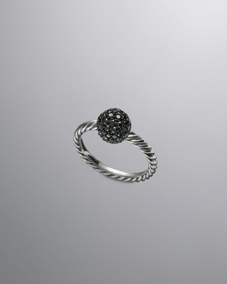 DY Elements Ring, Black Diamond, 8mm
