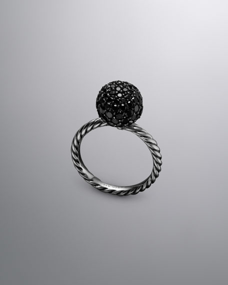 David Yurman Elements™ Ring, Pave Black Diamonds