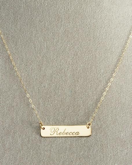 Script ID Tag Necklace