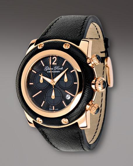 46mm Miami Chronograph Watch, Black