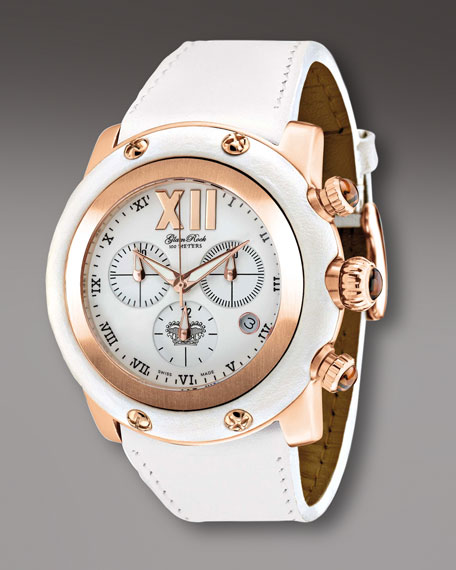 46mm Miami Chronograph Watch, White