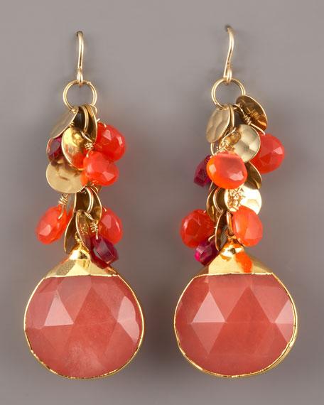 Cherry Quartz Teardrop Earrings