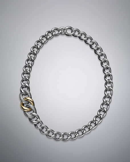 Curb Chain Graduated Necklace, Extra Large