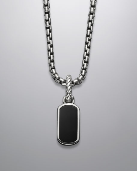 Cable Collectibles Tag Charm with Black Onyx