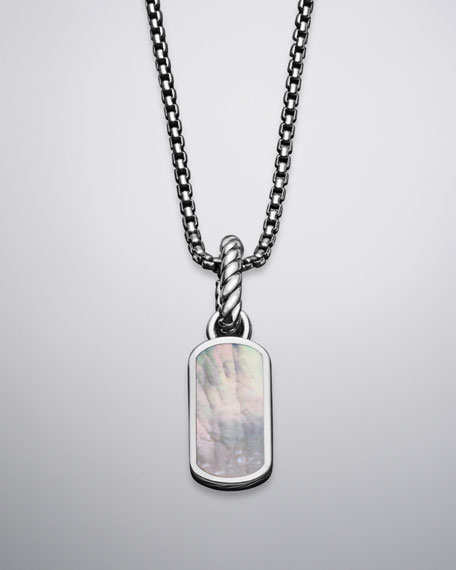 Cable Collectibles Tag Charm with Mother-of-Pearl