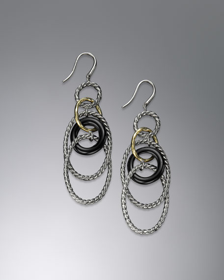 Mobile Link Earrings with Black Onyx