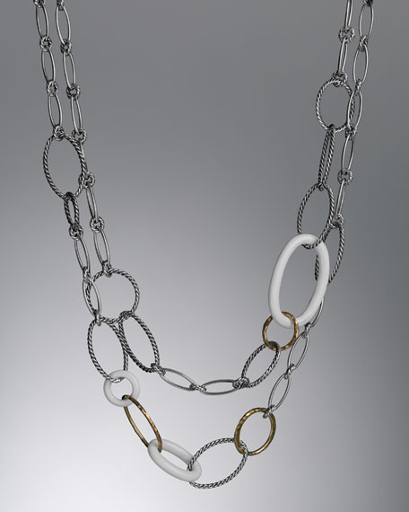 Mobile Necklace, White Agate