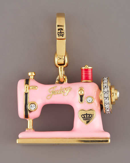 couture sewing machine charm