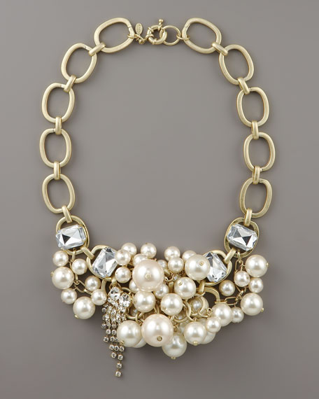Pearl-Cluster Chain Necklace