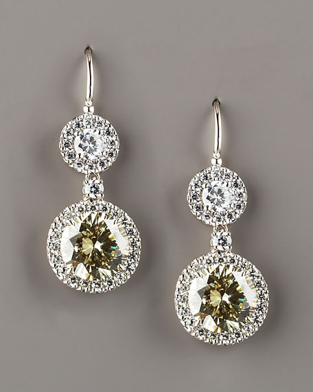 Canary Round-Drop Earrings