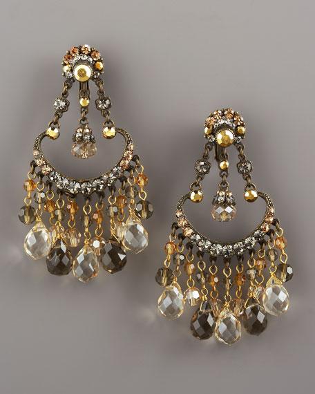 Crystal Briolette Earrings