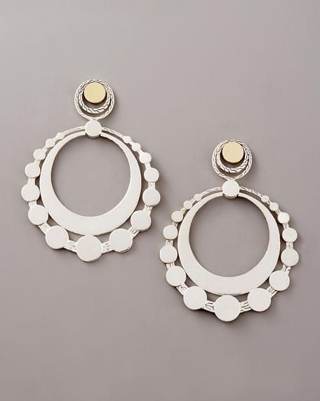 Large Dot Hoop Earrings