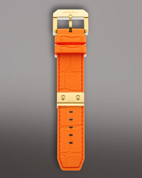 Golden Orange Rubber Strap, 24mm