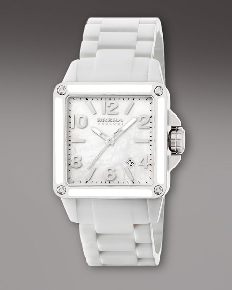 White Ceramic Square Watch