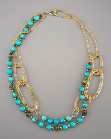 Turquoise Link Necklace