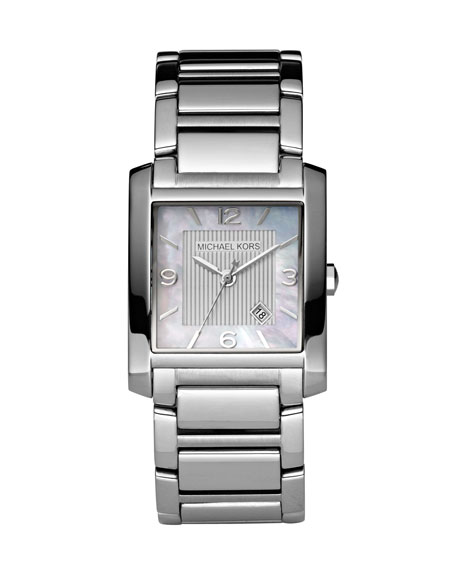 Square Watch, Silver Color
