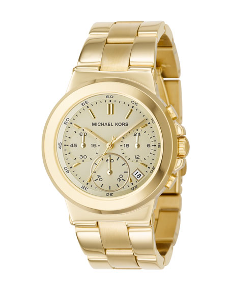 Chronograph Watch, Shiny Golden