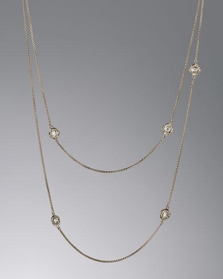 "Infinity Necklace, Diamond, 36"""