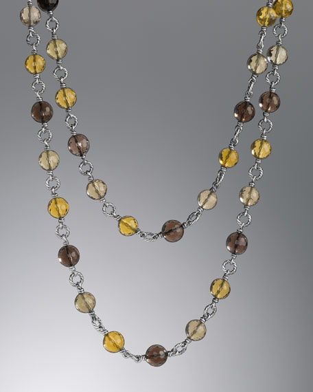 Bijoux Necklace, Smoky Quartz, 40""