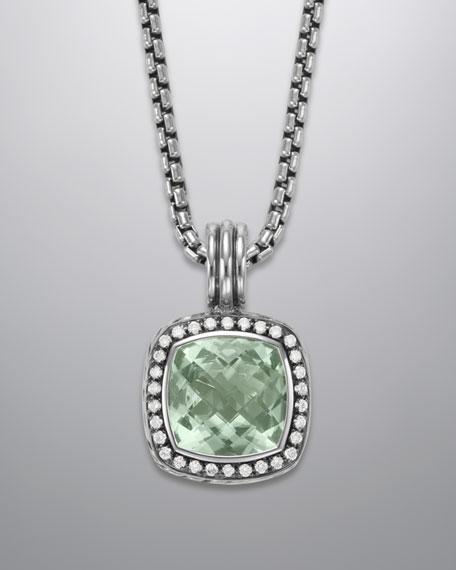 Albion Pendant with Prasiolite and Diamonds