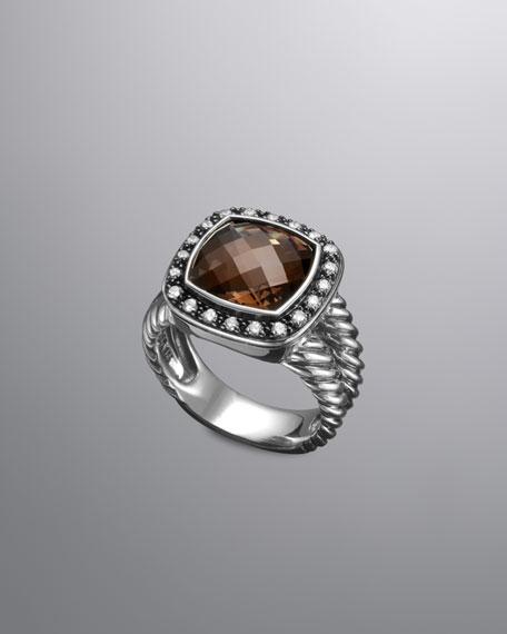 Moonlight Ice Ring, Smoky Quartz, 11mm
