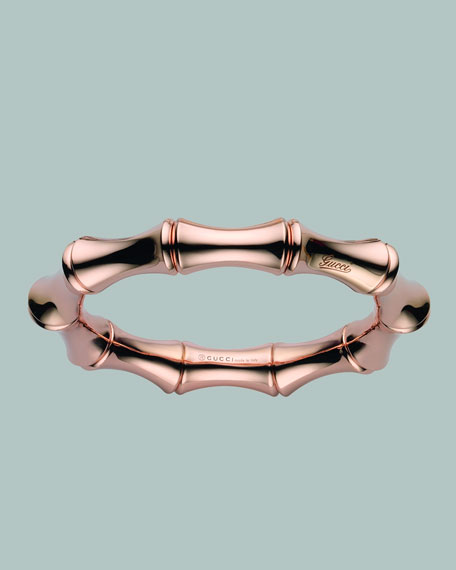 Bamboo Spring Bracelet, Rose Gold
