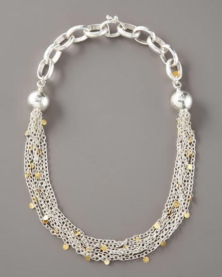 Silver & Gold Seven-Strand Necklace