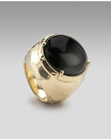 Black Onyx Dome Ring