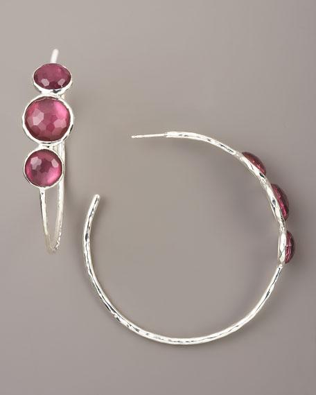Berry Hoop Earrings