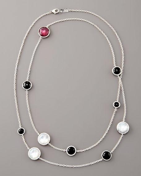 """Berry and Black Lollipop Necklace, 40""""L"""