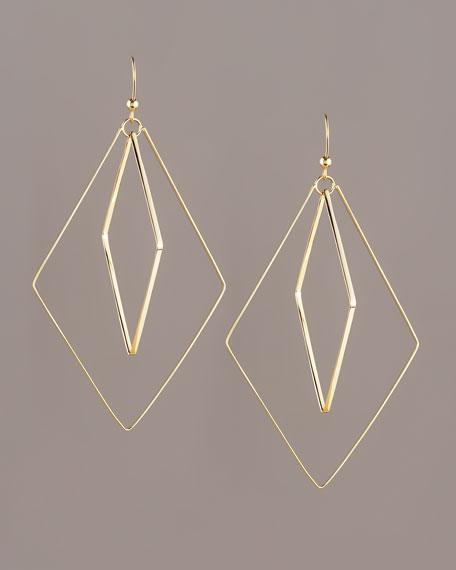 Flat Double-Diamond Earrings