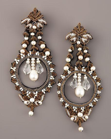 Pearl Metallic Earrings