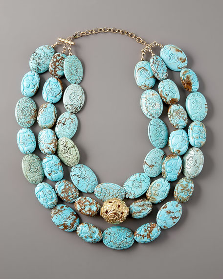 Three-Strand Turquoise Necklace