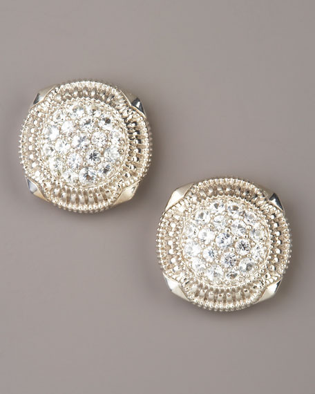 Pave Sapphire Earrings