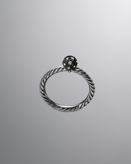 DY Elements Stack Ring, Diamond, 6mm