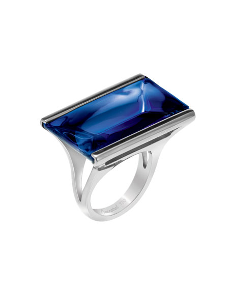 So Insomnight Sterling Blue Mordore Ring, Small