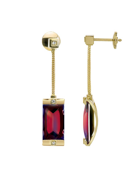 So Insomnight 18kt Ruby Iridescent Earrings
