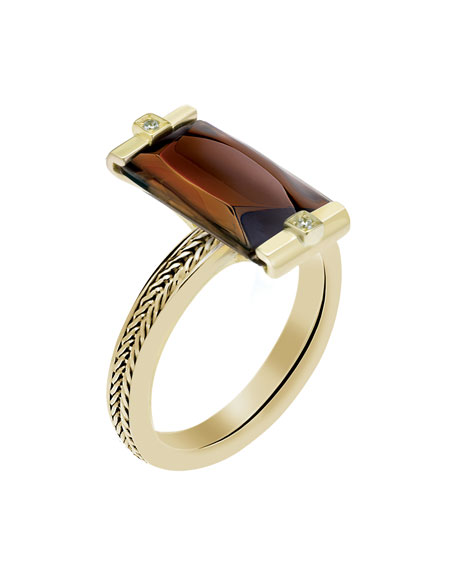 So Insomnight 18kt Brown Mordore Ring