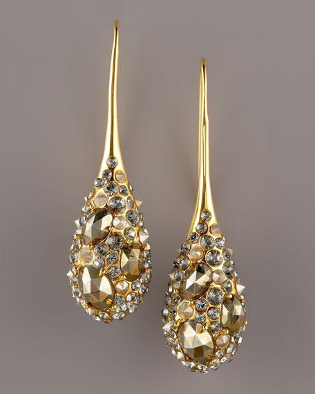 Pyrite Teardrop Earrings
