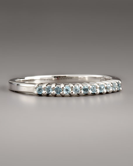 Blue Topaz Band Ring, Size 7