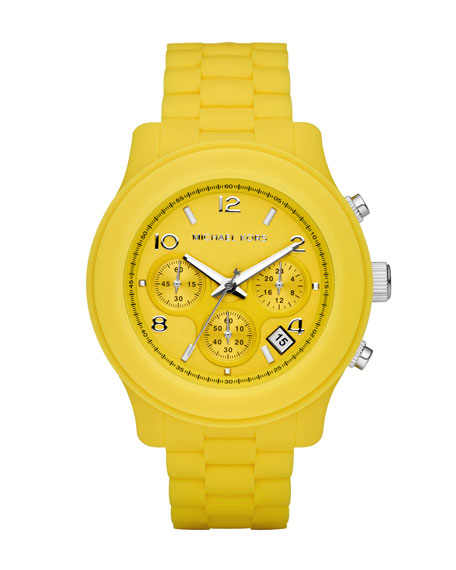 Silicone Watch, Yellow