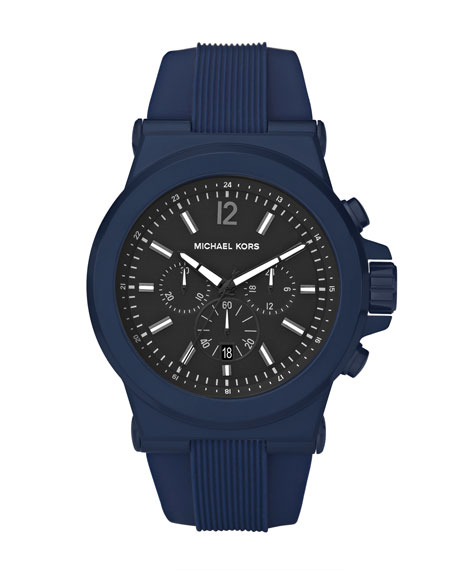 Men's Silicone Chronograph Watch, Blue