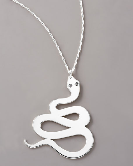 Diamond Serpent Necklace