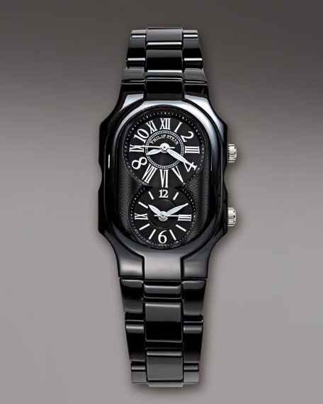Small Ceramic Watch, Black