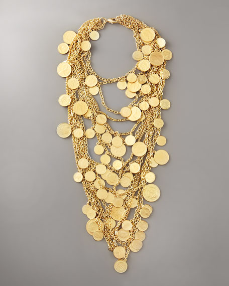 Multi-Strand Coin Necklace