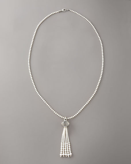 Tassel Pearl Necklace