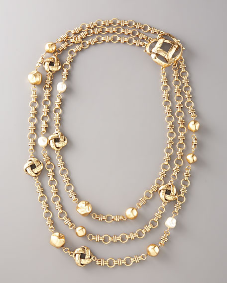 Knotted Multi-Strand Necklace