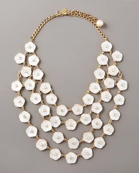 cluster-flower bib necklace