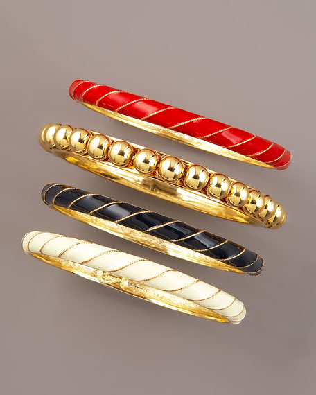 Nautical Bangle Set, Four Pieces