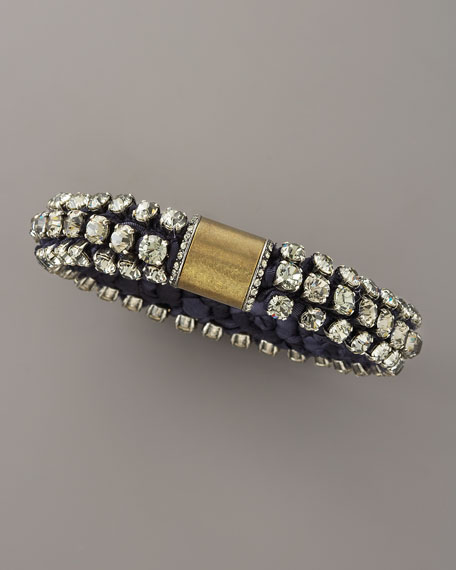 Beaded Silk Bracelet, Blue